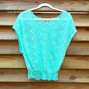 Crochet Seafoam Green Top